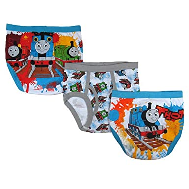 Amazon.com: Thomas the Train Boys 3 Pack Underwear - Toddler 5T ...