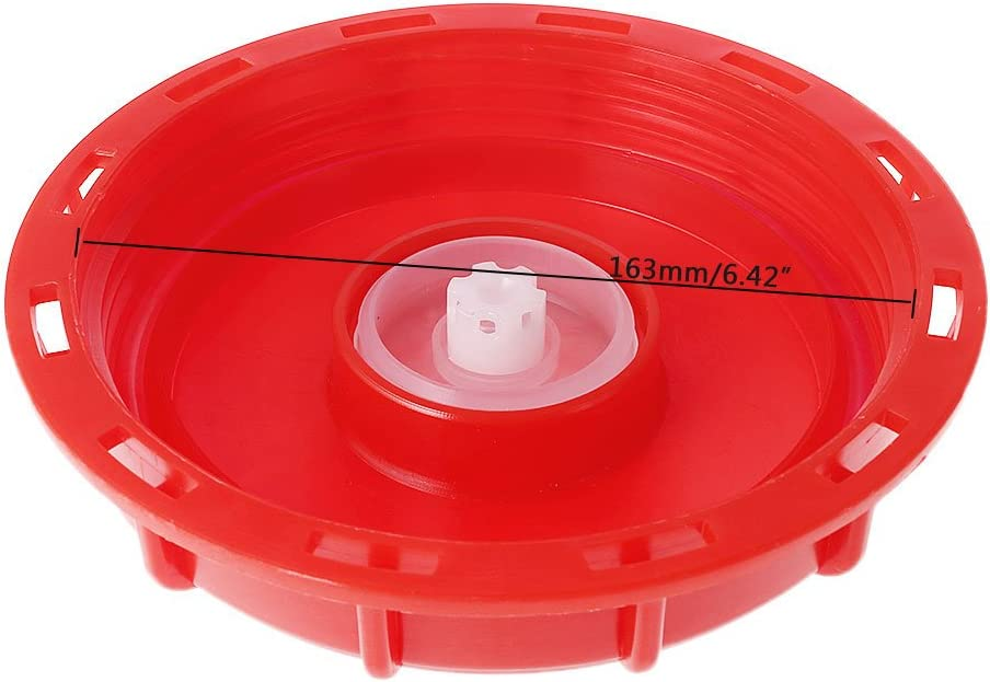 BIlinli 275-330 Gallon IBC Fourre-Tout Couvercle Couvercle Couvercle 163mm Couvercle Couvercle Respiratoire