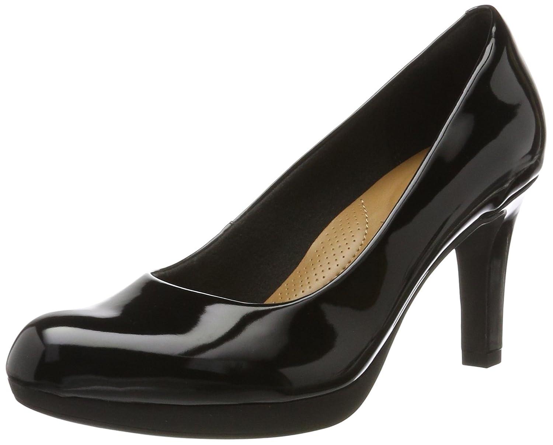 Clarks Adriel Viola, Zapatos de Tacón para Mujer 38 EU Negro (Black Pat -)