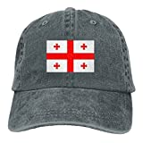 Georgia FlagWashedBaseball Cap Adult Unisex Adjustable Hat