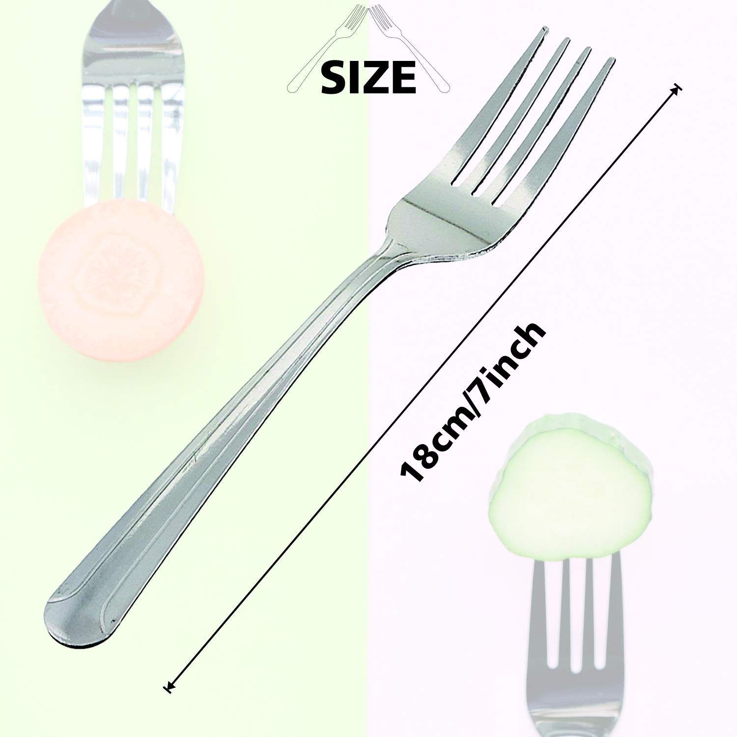 7 inches 12-Piece Stainless Steel Forks Mirror Polished Modern Flatware Cutlery Forks for Kitchen Dinner Forks,Dominion Heavy Duty Forks