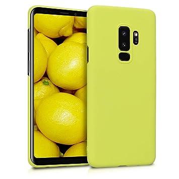 kwmobile Funda para Samsung Galaxy S9 Plus - Carcasa [Trasera] Protectora de [Silicona] - Cover Duro en [Amarillo Pastel Mate]