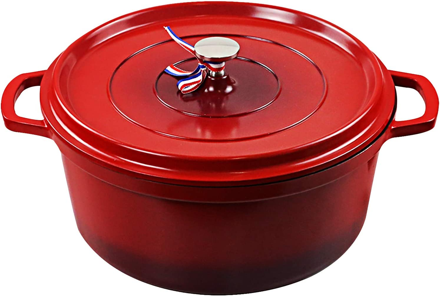 Cookware Cast Iron Aluminum Dutch Oven with Lid, Non Stick Round Casserole Dish, Lightweight,Moving it around easy,For all Heat Source&Induction cooker,Quick heating,Oven safe up to 450°F, 6.8 Quart Pot