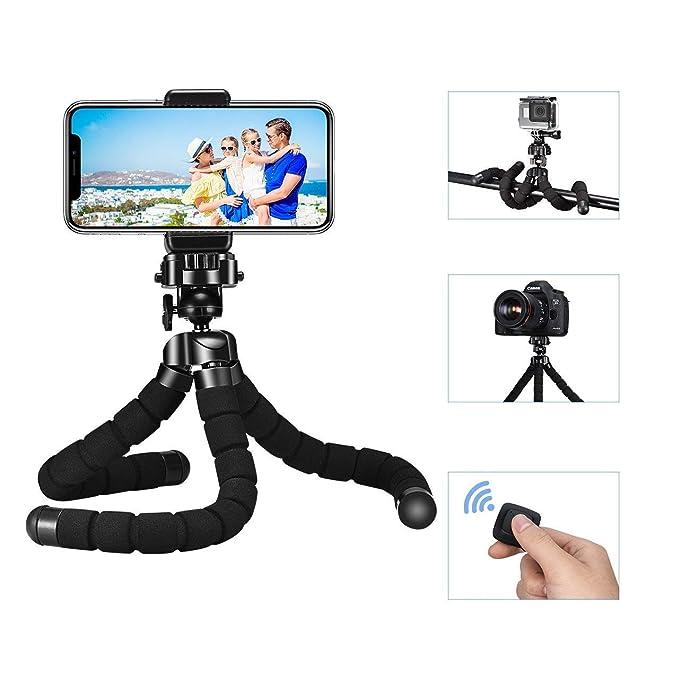 Handy Stativ,Mpow Flexibel Smartphone Stativ Kamera Stativ mit Bluetooth Fernsteuerungr,Mini Reise Stativ Dreibeinstativ Stän