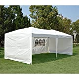 Clevr 10'x20' Wedding Party Canopy Tent, Outdoors Events Gazebo, with Removable Sidewalls with Windows, Fits 30 People, Great for Event and Party Pavilion Cater