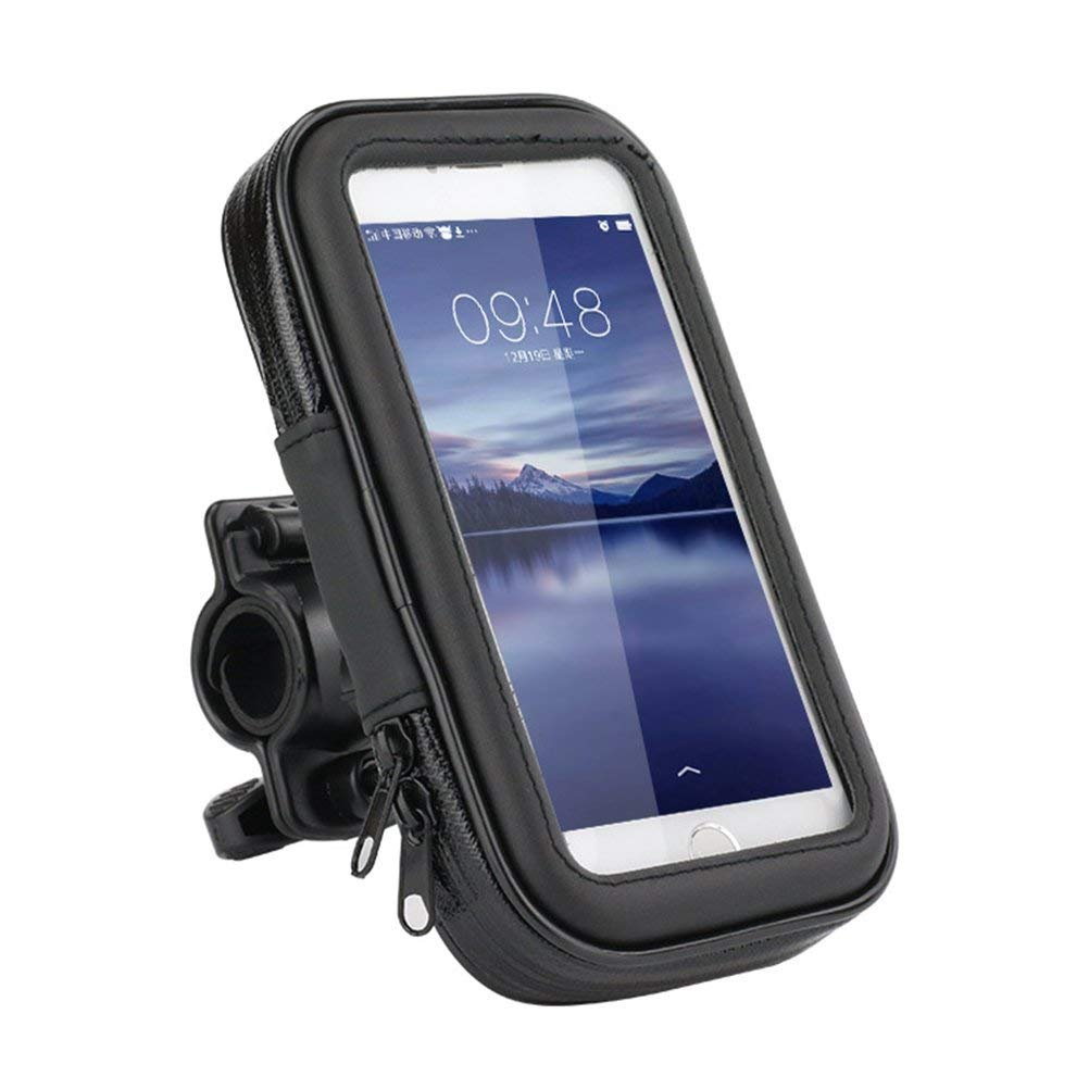 ZTZ Waterproof Universal Bike Motorcycle Mount Holder Case with Sensitive Touch Screen for iPhone X iPhone 8/7/SE/6S/6 Up to 5.2 Inches