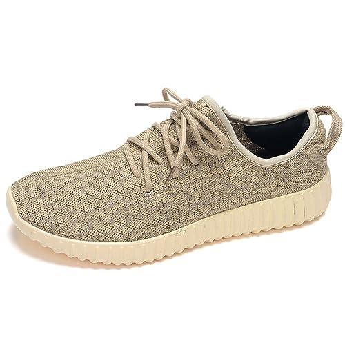 Para Hombre Zapatillas Gimnasio Walking Zapatillas Fitness Deportes de Ligero Zapatillas de Running, Color Dorado, Talla 46 EU: Amazon.es: Zapatos y ...