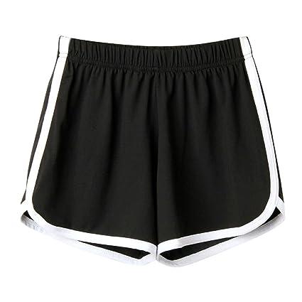 Damen Mädchen Shorts Sport Hotpants Sportshorts Gym Fitness Kurz Laufhose S//XL