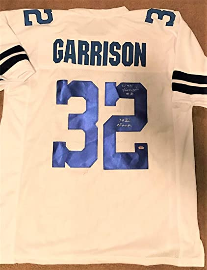 d6c70846161 Walt Garrison Signed Custom Jersey - Dallas Cowboys Super Bowl VI Champs  Inscription at Amazon's Sports Collectibles Store