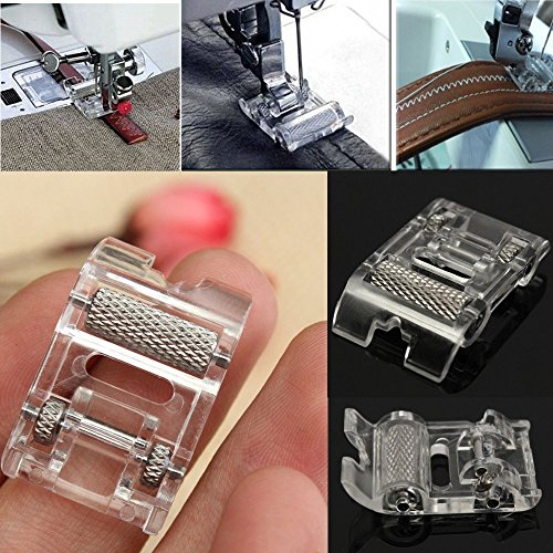 Needles Prevents Skipped Stitches (JD Million shop 1Pcs Low Shank Roller Presser Foot For Snap Singer Brother Janome Sewing Machine)