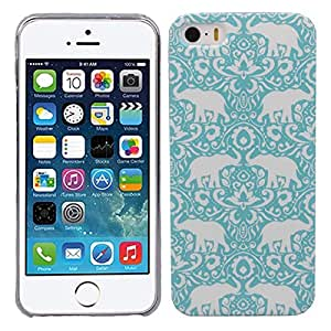 Sannysis Vogue Green Totem Elephant Hard Snap On Skin Case Cover for iPhone 5 5S 5G