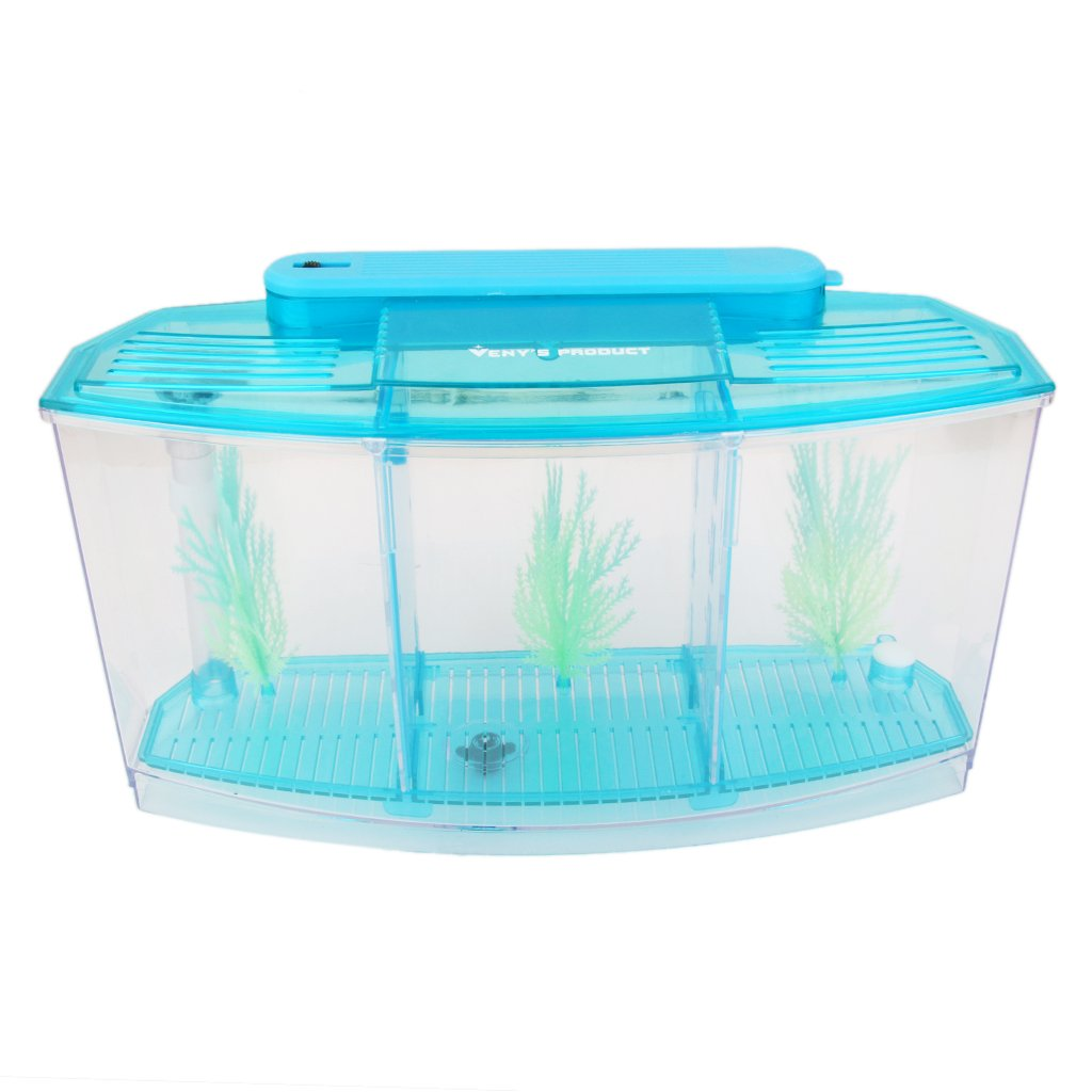 Aquarium LED Triple Breeding Breeder Isolation Box Hatchery Incubator (Blue) Generic