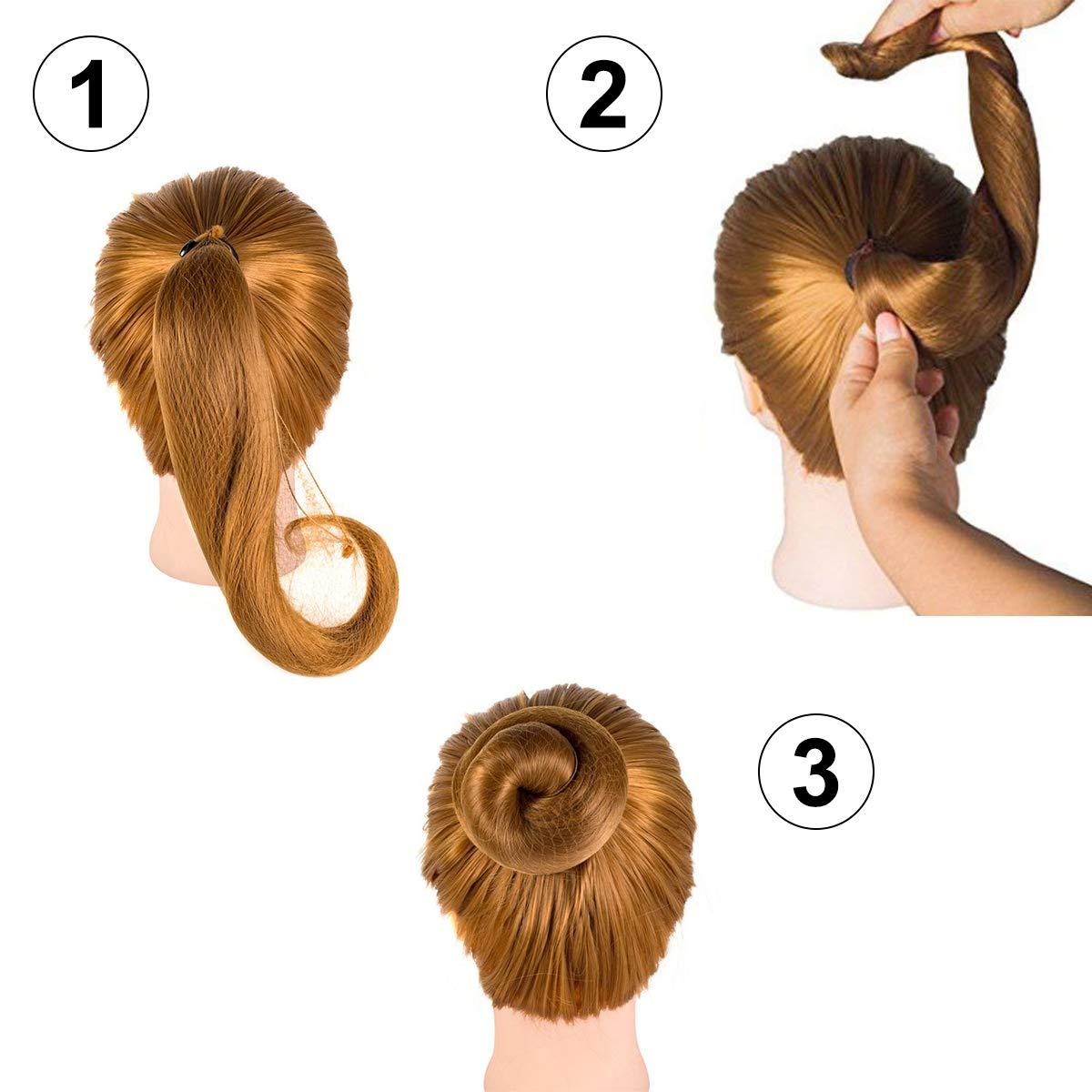 Dancewear Ballet Bridal Accessories Pair of Girls Plain Mesh Bun Hair Nets Set