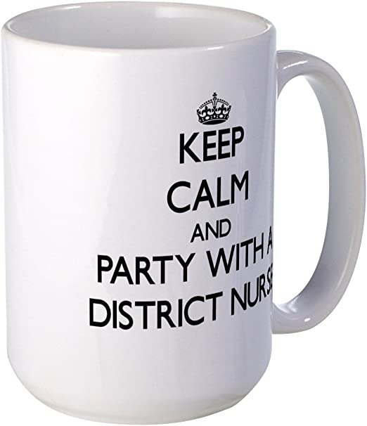 KEEP CALM IM A DISTRICT NURSE Mug 11oz Cup