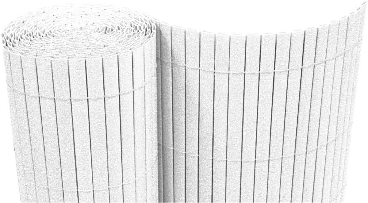 Dynamic24 Pvc Sichtschutzmatte 160x500 Cm Weiss Balkon Sichtschutz
