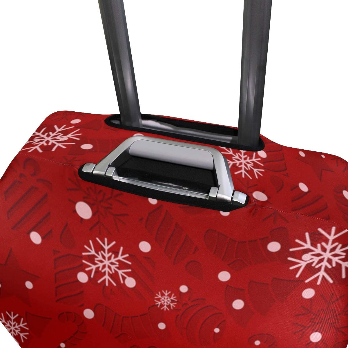 Snowflakes And Christmas Sock Travel Luggage Protector Case Suitcase Protector For Man/&Woman Fits 18-32 Inch Luggage