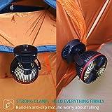 OPOLAR 5000mAh Camping Lantern Clip On Fan with