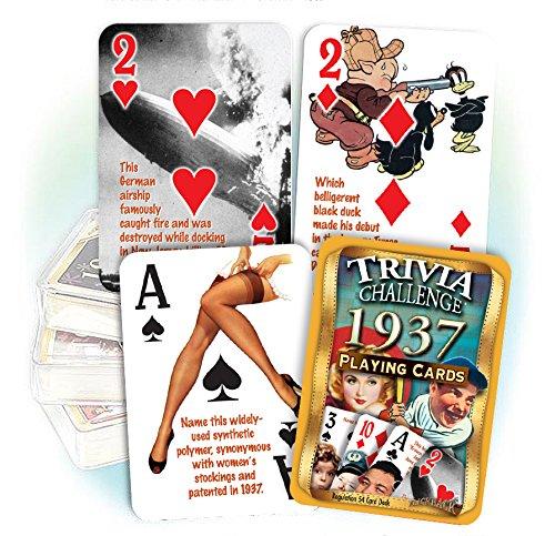 1937 Trivia Playing Cards: 80th Birthday or Anniversary (80 Birthday)