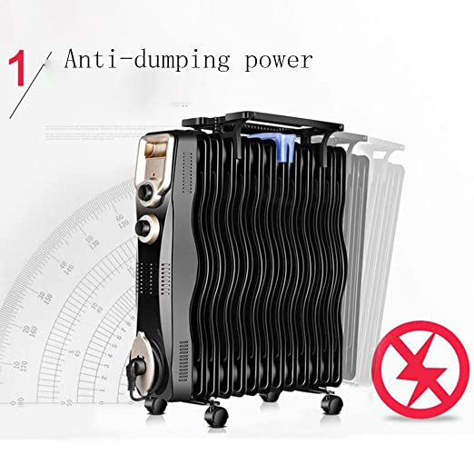 Heater GJM Shop Calentador De Radiador De Aceite Casa El Ahorro De Energía Estufa De Pie 2000W Calentador Eléctrico -3 Ajustes De Potencia Temperatura ...