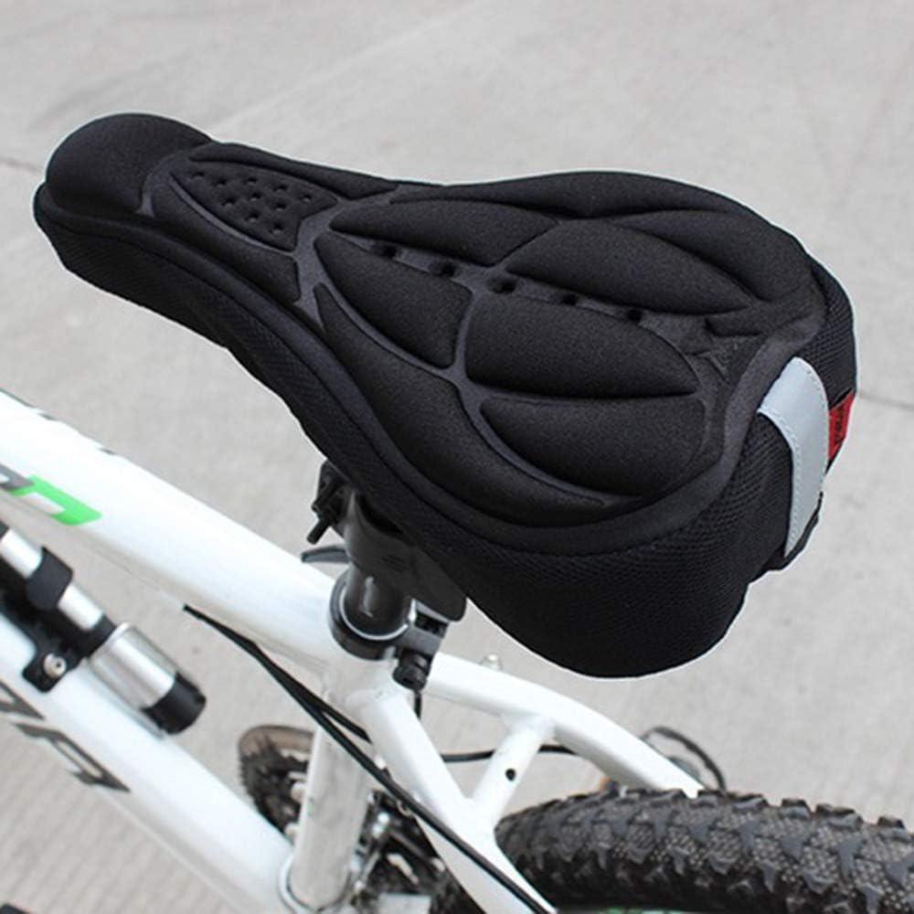 KKmoon 3D Acolchado Sillin Bicicleta Funda Sillin Bicicleta Esponja 28 x 17cm