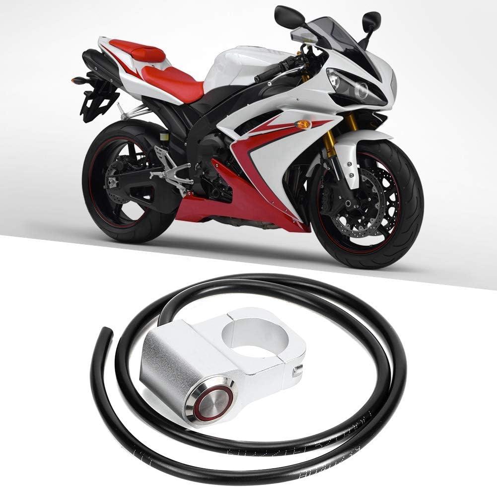 25mm//0.98in Faretti in acciaio impermeabili Manubrio Interruttore faro per bici da moto Argento Qii lu Interruttore faretti