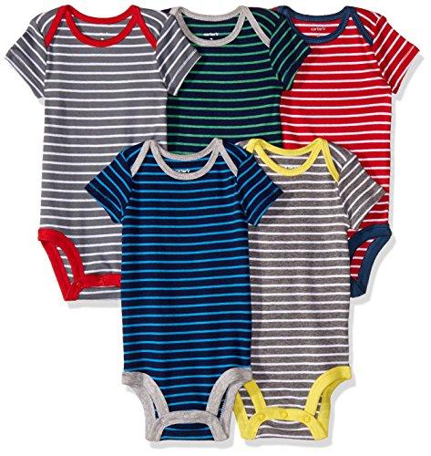 Carter's 126G335 Body para Bebé-Niños, Multicolor, 12 Meses, (Paquete de 5 Piezas)