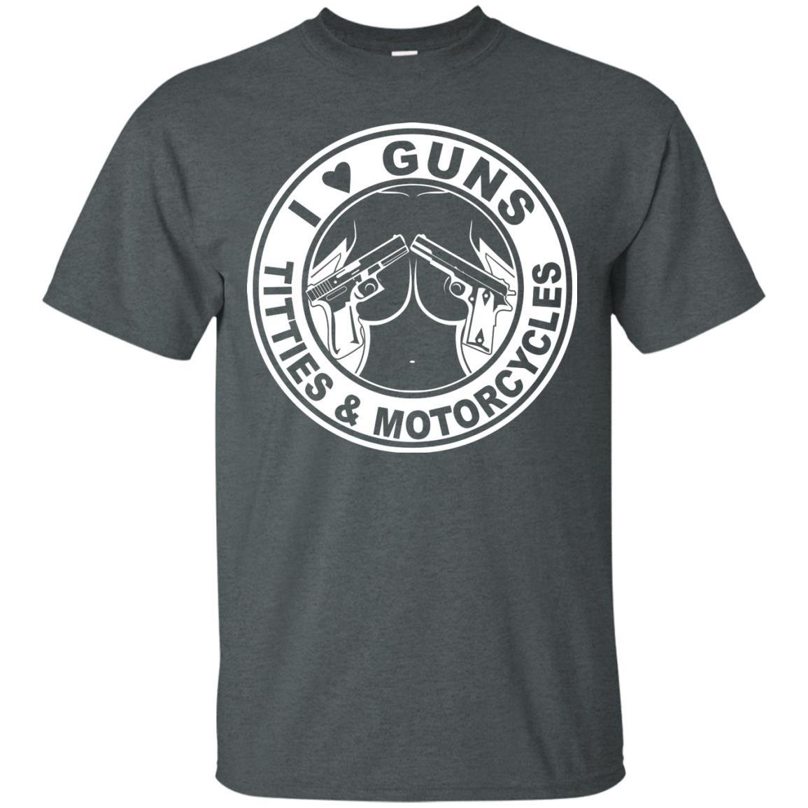 KeyVic I Love Guns Titties & Motorcycles T-Shirt