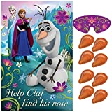 """Disney Frozen Birthday Party Game Activity Supplies (8 Pack), Multi Color, 37 1/2 x 24 1/2""""."""