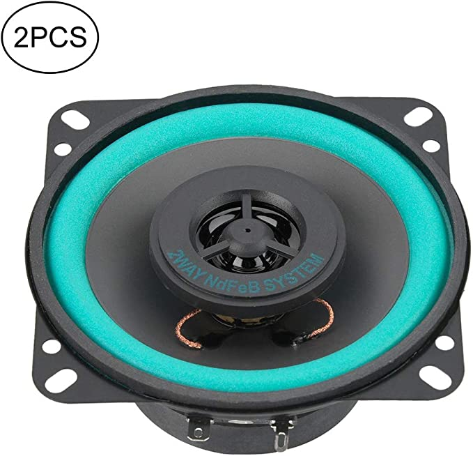 Ebtools 2 Stücke 4 Zoll 100 Watt Auto Hochtöner Super Power Lautsprecher Fahrzeugtür Musik Audio Lautsprecher Auto