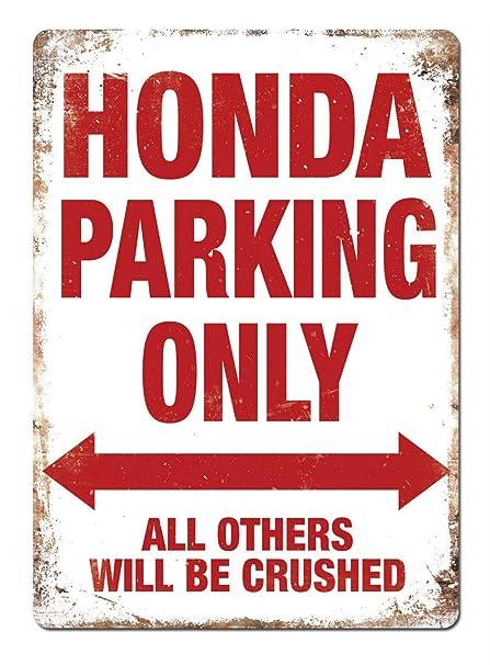 Honda Parking Only Póster De Pared Metal Retro Placa Cartel ...