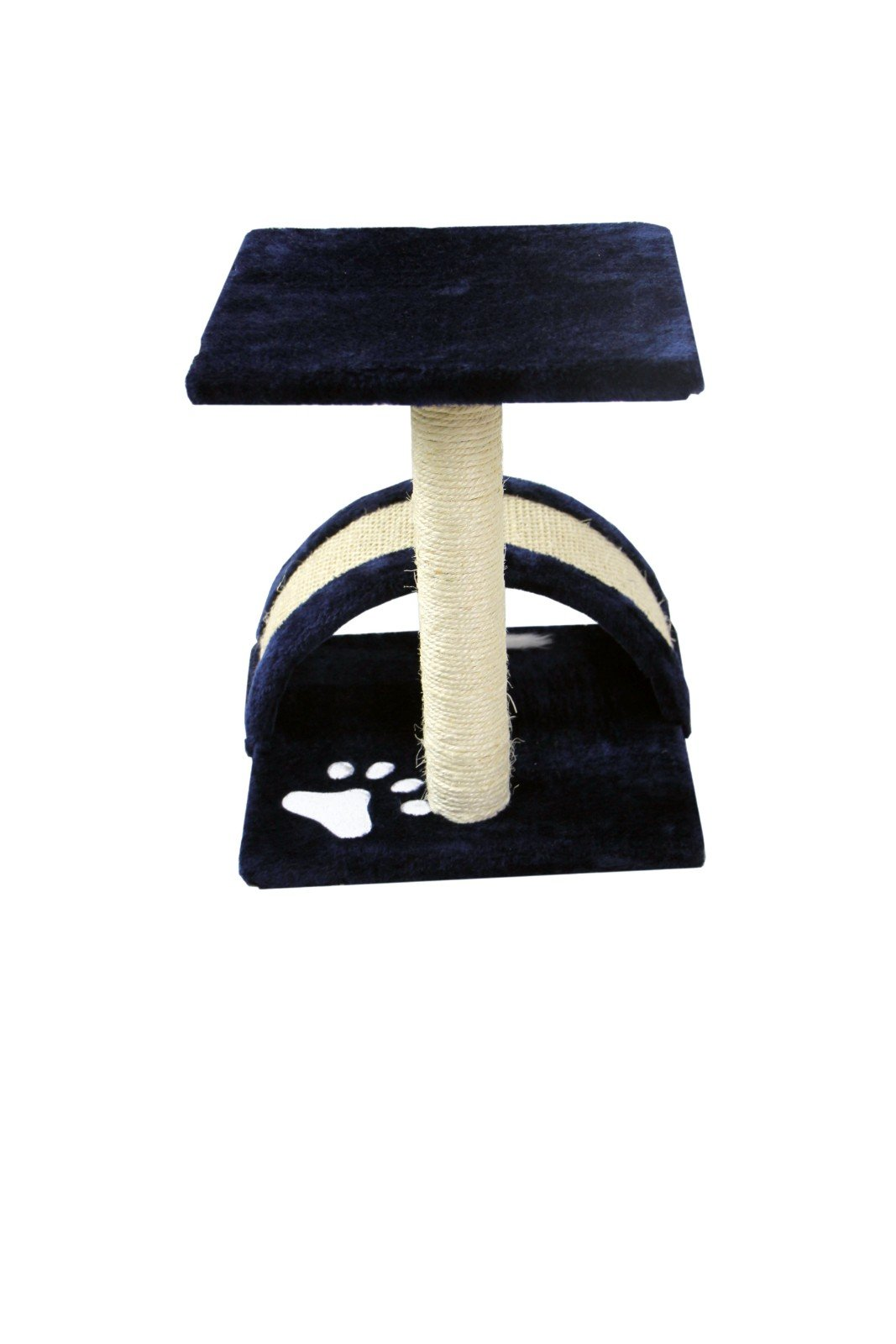 CloudWorks 15'' Small Cat Tree Sisal Scratching Post Furniture Playhouse Pet Bed Kitten Toy Cat Tower Condo for Kittens (Navy Blue) by HIDING by CloudWorks Cat (Image #5)
