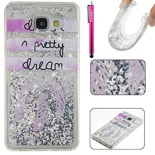 Galaxy A310 2016 Case, Firefish [Slim Fit] Creative Moving Quicksand Anti-Slip [Shock Absorption] Soft TPU Gel Silicone Protective Cover for Girls Children Fits for Samsung Galaxy A310 2016 -Dream
