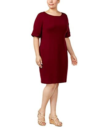 604e102b906 Karen Scott Plus Size Elbow-Sleeve T-Shirt Dress
