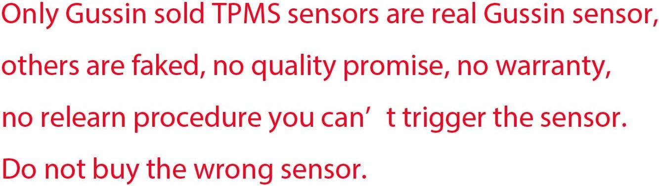 Pack of 4 sensor TPMS002A Gussin 315Mhz TPMS sensor Tire Pressure Monitoring System Sensor for Ford Buick Cadillac Chevrolet GMC Hummer Pontiac Saturn Subaru OE replacement