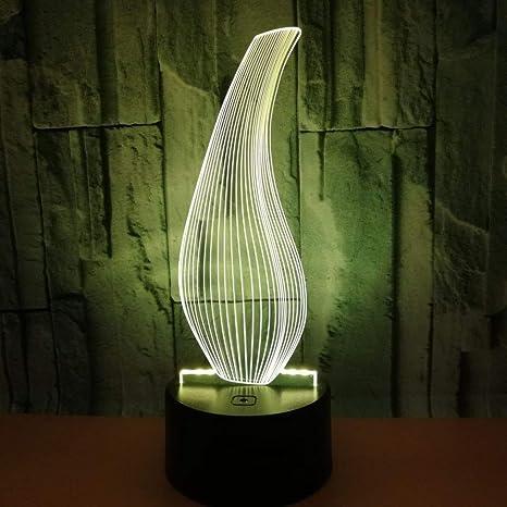 Ilusión Óptica Lámpara 3D Botella Dormitorio Luz Decorativa ...