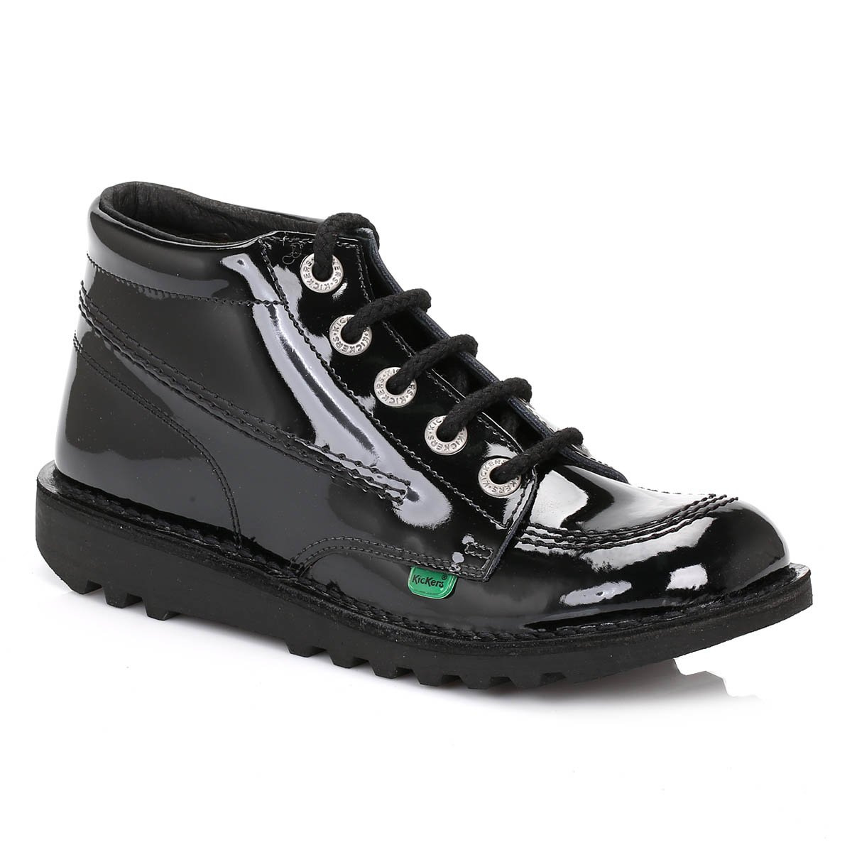 premium selection 5518a 6466f Kickers Boots Genuine Classic Kick Hi Junior Kids Boots Shoes Size UK 3-6  BLACK PATENT  Amazon.co.uk  Shoes   Bags
