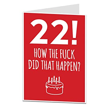 22nd Birthday Card For Him Her Perfect For Friends Brothers