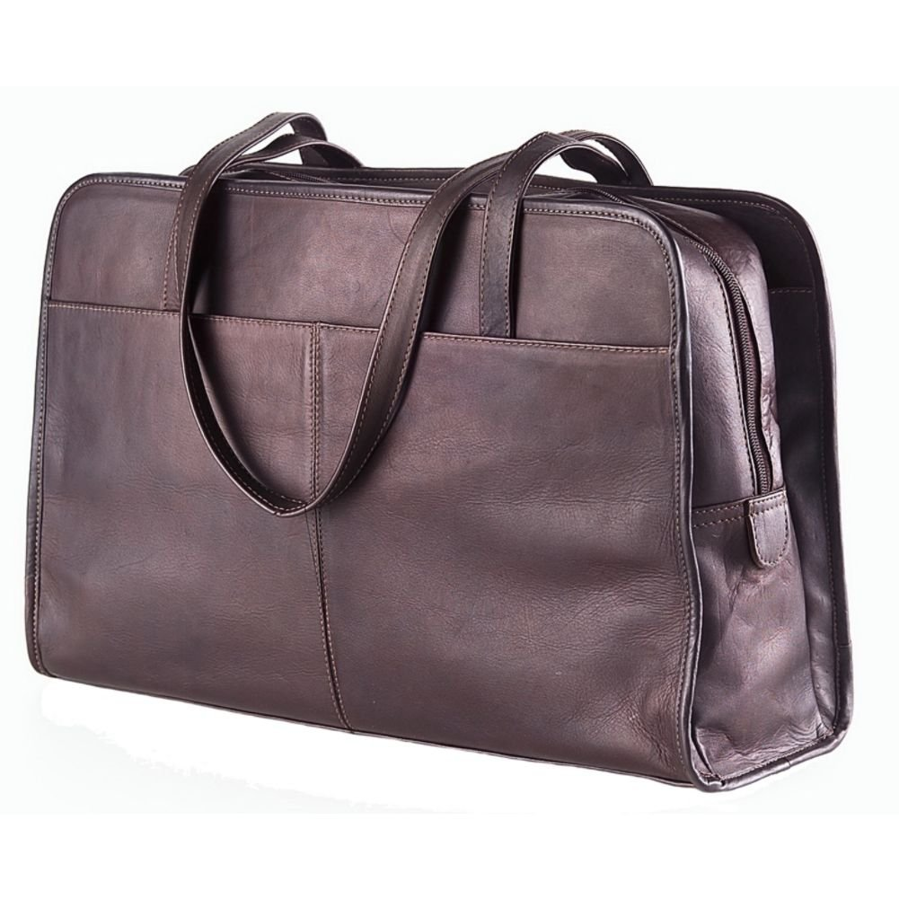 Clava Leather Three Section Tote by Clava
