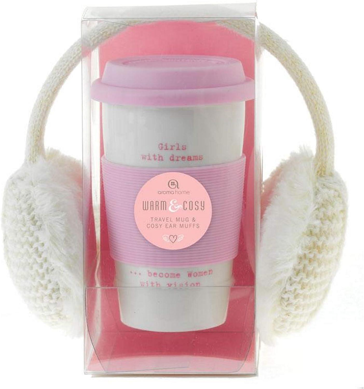 Aroma Home Ceramic Pink Travel Mug