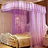 DE&QW Pink cartoon mosquito nets, Bed curtains bed canopy-G Twin2
