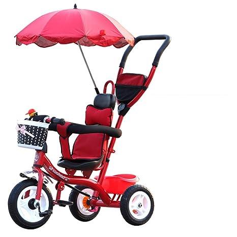 Carro plegable para bicicletas para niños 1-6 años, Cochecito para bebés, Varilla