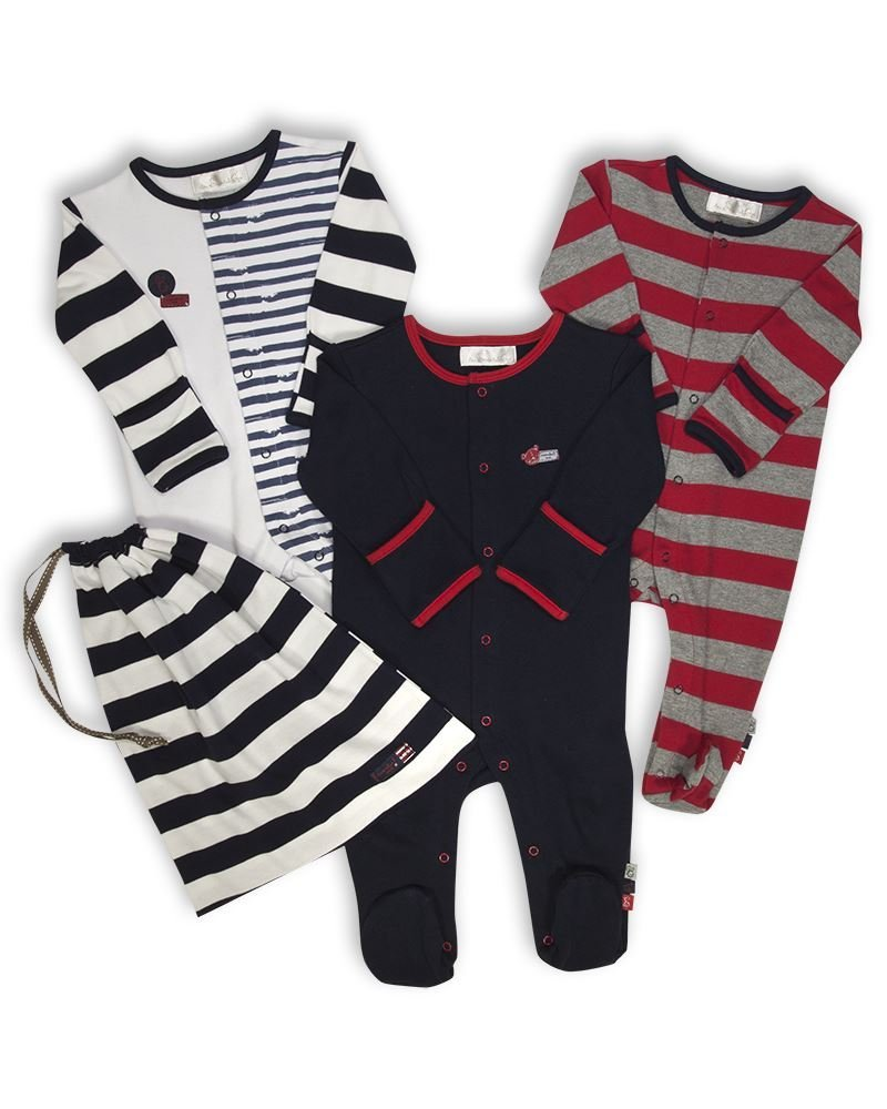 The Essential One, pagliaccetto per neonato, pagliaccetto per dormire (confezione da 3 con sacchetto), ESS109 blu Blu 50