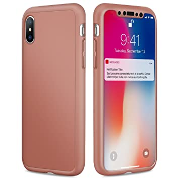 Eouine Funda iPhone 8, Carcasa 360 Grados Integral para ...