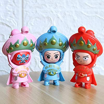 PROKTH 3pcs Chinese Style Face Doll Cartoon Sichuan Opera Face Change Doll Innovative Travel Memorial Toy Face-Changing Doll: Home & Kitchen