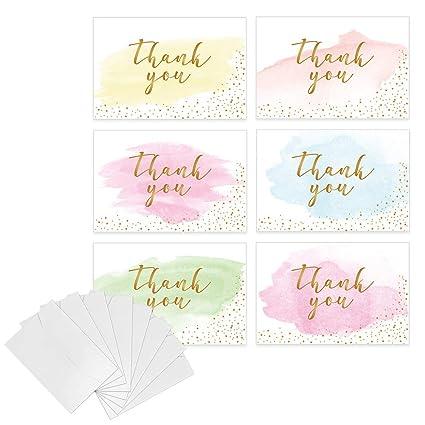 Tarjetas de agradecimiento con sobres, tarjetas de ...