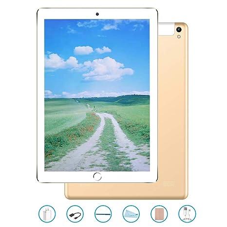 Tablet 10.1 Pulgadas, Android 7.0 Tablet PC con Ranura para Tarjeta SIM Dual, 3G, gsm, Quad Core, 3 GB de RAM + 32 GB ROM, cámara Dual incorporada, ...