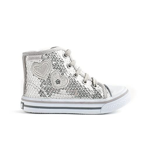 CANGURO Sneakers Alte Pailettes C56134 - Argento - Taglia EU 25 51cTg