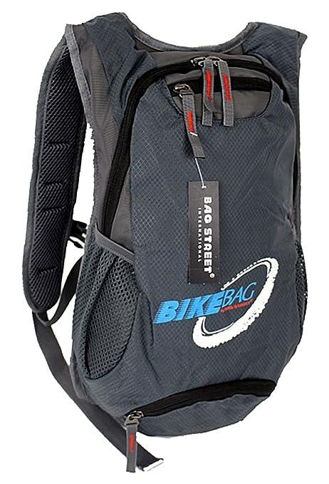 mochila Bag Street mochila de bicicleta gris correa de cintura