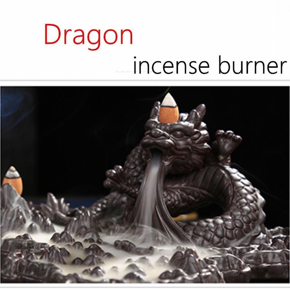 Tongyou Dragon Incense Burner Holder Ceramic Desktop Decoration Home. Crafts Yoga Gift by Tongyou (Image #7)