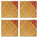 MSD Square Coasters Non-Slip Natural Rubber Desk Coasters design 30523781 Patterns carved wooden doors hand crafted skill